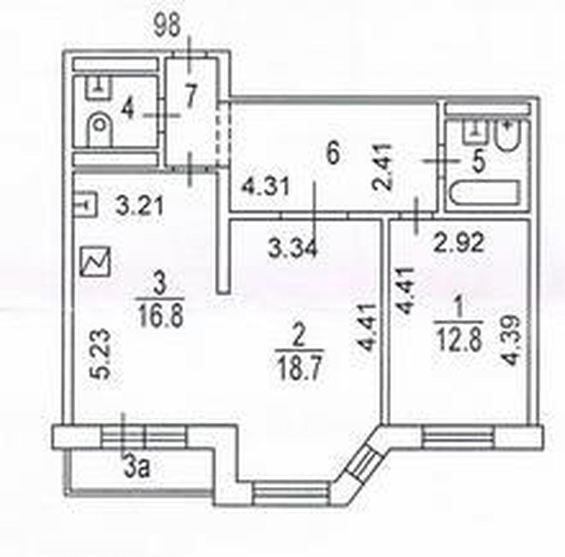 Квартира в доме монолит-кирпич! 4